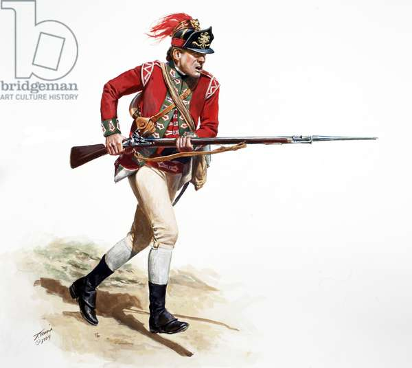 British 5th Regiment of Foot Light Infantry Company, Private 1775, 2009 (w/c & gouache on paper)