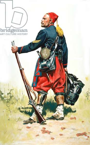 Union army, Corporal 5th New York Volunteers - Duryee Zouaves, 1989 (w/c & gouache on paper)