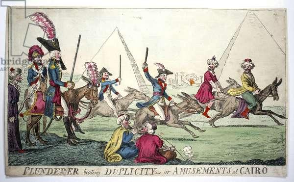 British satire of Napoleon in Egypt