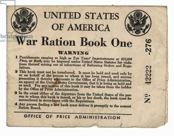 United States Homefront War Ration Book