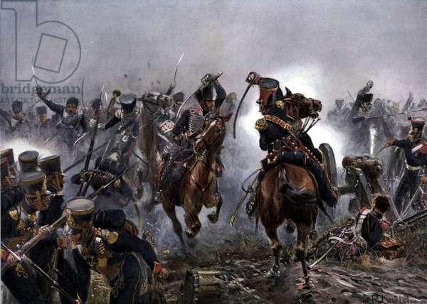 Brandenburg Hussars at the Battle of Leipzig, October 16th 1813