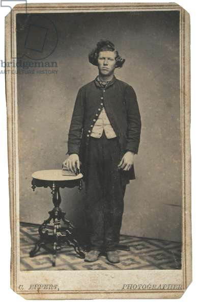 Union soldier with big hair