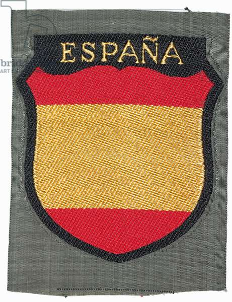 Nazi Germany , Arm badge of the Spanish Blue Division