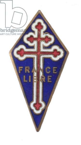 World War II, France,  Free French lapel pin
