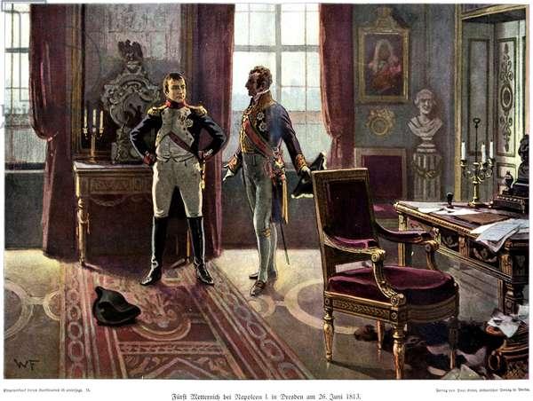 Furst Metternich Meets Napoleon in Dresden June 26th 1813