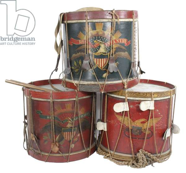 Grouping of Union Civil War drums