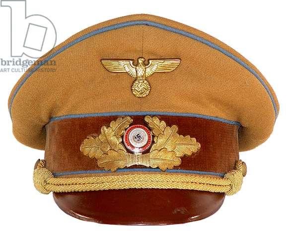 Nazi Germany,Ortsgruppe level Political leaders visor cap