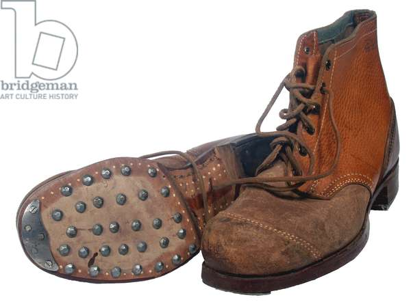Nazi Germany, Soldier's German M44 Combat Ankle boots.