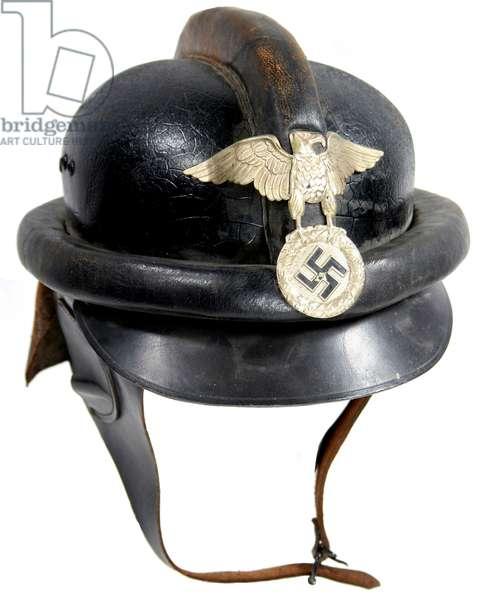 Nazi Germany, NSKK leather crash helmet