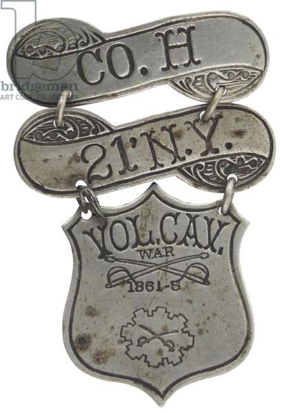 21st New York Cavalry Veterans Badge