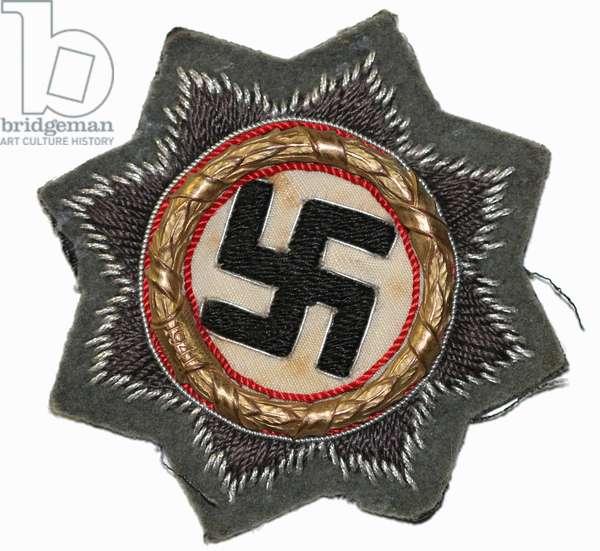 Nazi Germany, German Cross in Gold, Cloth version