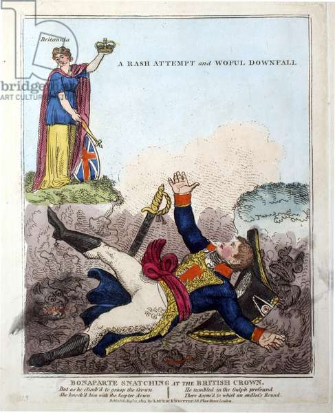 British satire of downfall of Napoleon