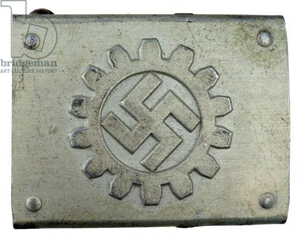Nazi Germany, German Labor Front belt buckle
