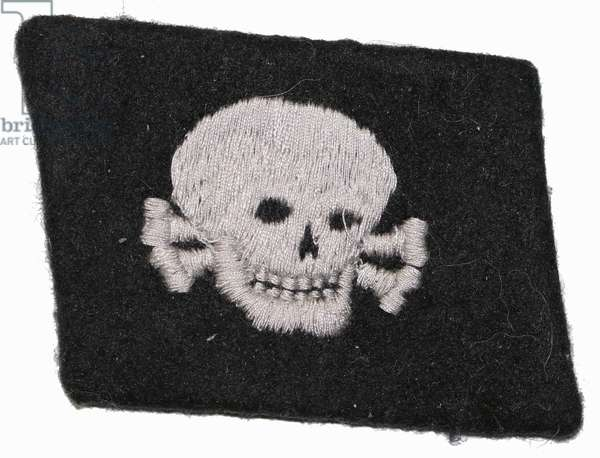 Nazi Germany, Waffen SS Collar Patch For 3rd SS Panzer Division Totenkopf.