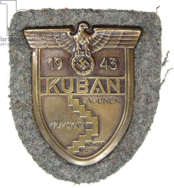 Nazi Germany, Kuban Bridgehead Armshield-Ärmelschild Kuban