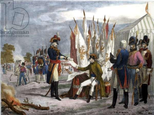 Napoleon meeting with Czar Alexander