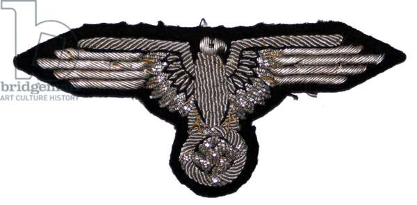 Nazi Germany ,SS Officer's Bullion Embroidered Sleeve Eagle
