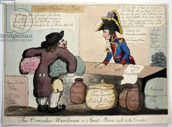 British satire of trade with Napoleon