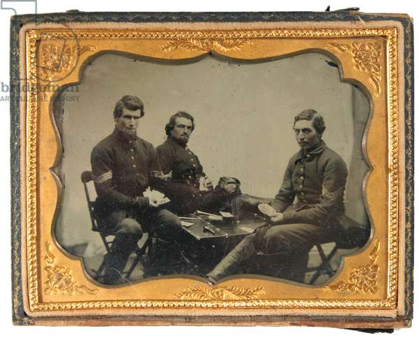 Three Union sergeants playing cards