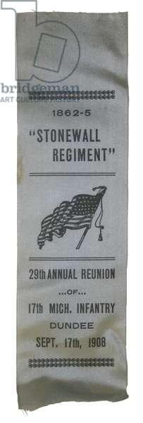 1908 Reunion ribbon of the 17th Michigan Regiment