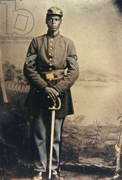 African -American 1st Sergeant of infantry with sword