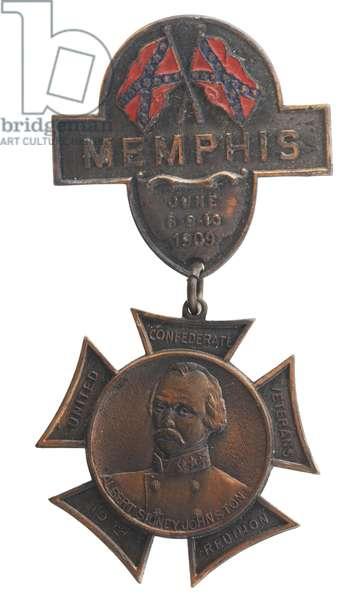 United Confederate Veterans 1909 Reunion Badge