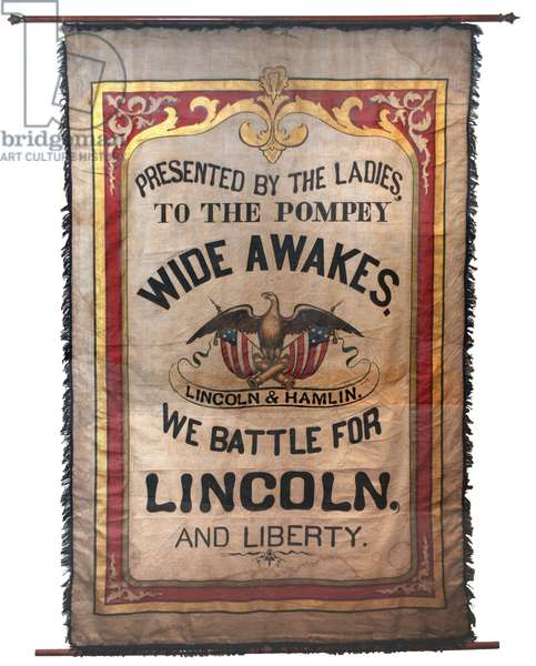 Wide Awake Banner, 1860 Lincoln Election
