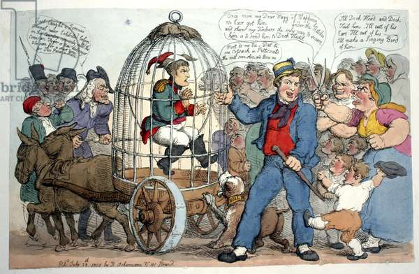 British satire of caged Napoleon