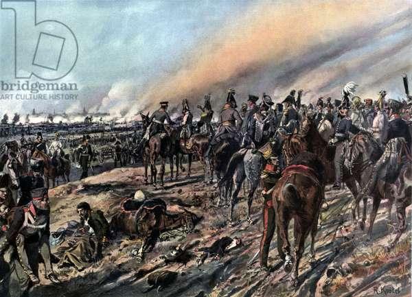 Napoleonic Wars, Schwarzenberg and allies at battle of Leipzig October 1813