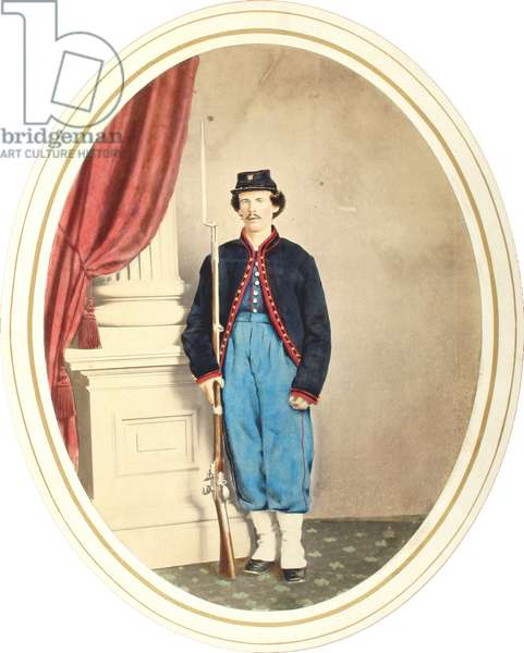 Tinted image of a Baxter Zouave