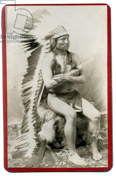Arapahoe Warrior, Painting Horse with Colt Revolver
