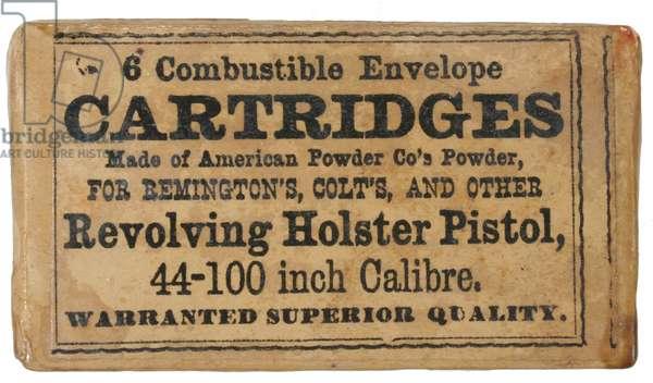 Glazed package of Colt .44 caliber revolver cartridges