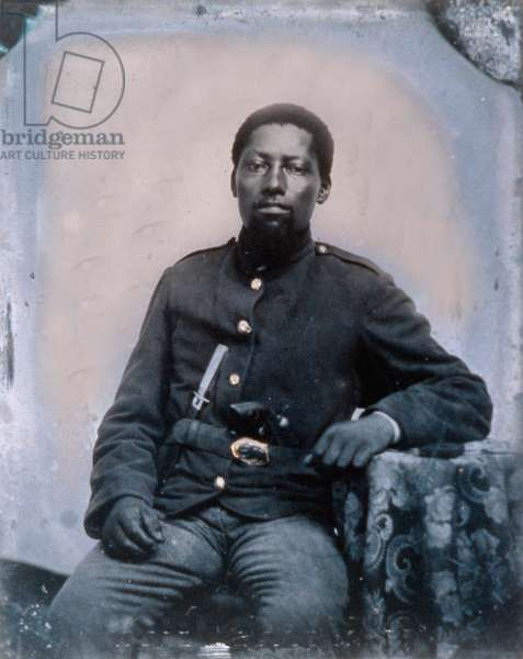 African- American Union Soldier with knife and pistol