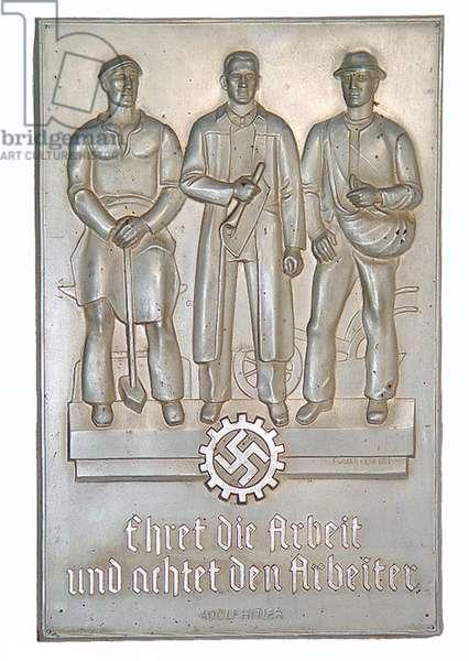 Nazi Germany ,Deutsche Arbeitsfront -DAF- Wall Plaque