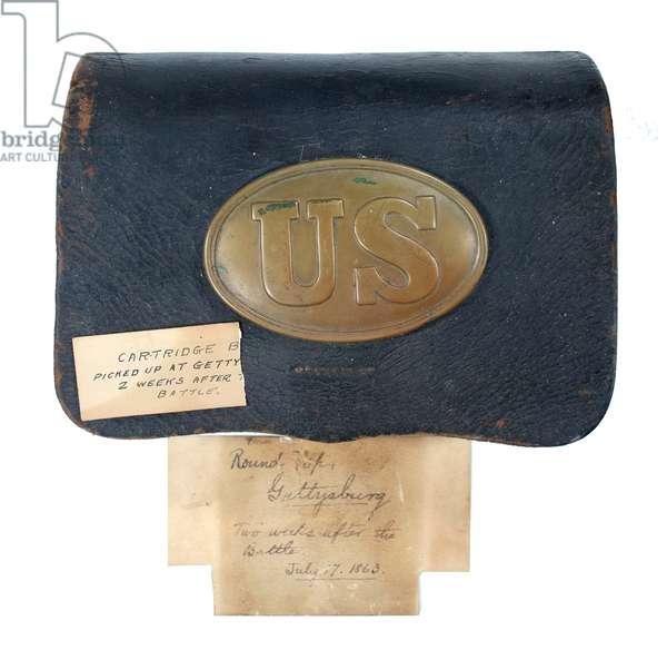 American Civil War, Rifleman's cartridge box from Gettysburg