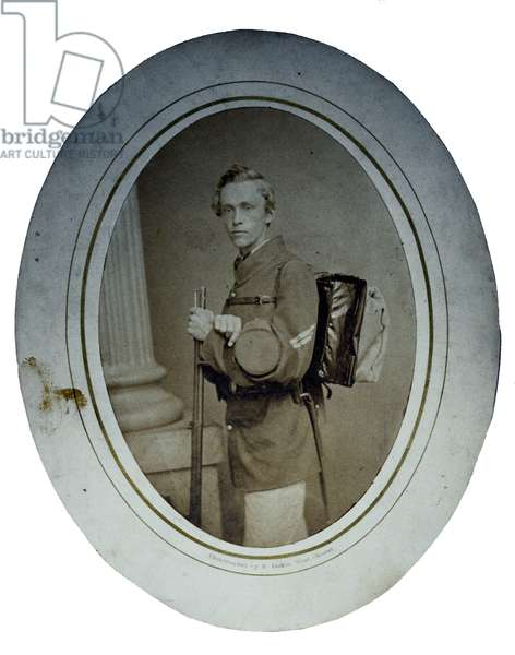 Union Infantry Corporal with knapsack and rifle