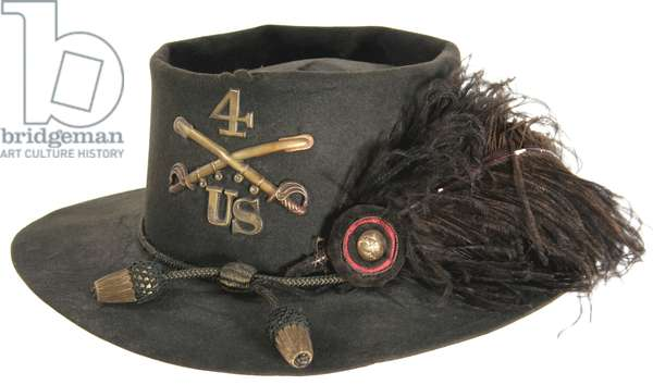 Civil War, -Enlisted man or Non-Comm. officer's slouch hat - 4th U.S. Cavalry