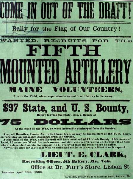 American Civil War, Recruiting Broadside