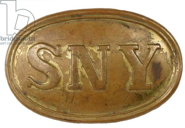 State of New York soldier's belt buckle