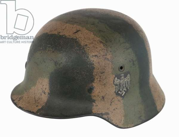 Nazi Germany , Army Helmet with Striped Camouflage pattern