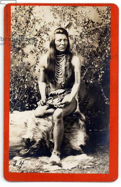 Shoshone Warrior Windeah with Colt Revolver