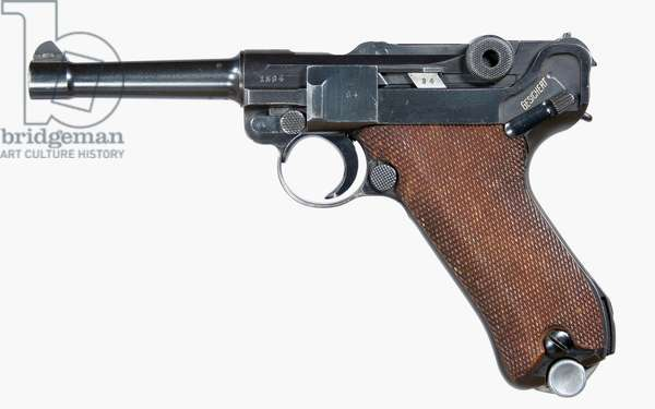Nazi Germany, Luger Pistol , PO8 , 9mm S42 dated 1938