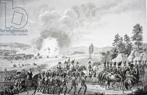 Retreat of the French after the Battle of Leipzig October, 1813