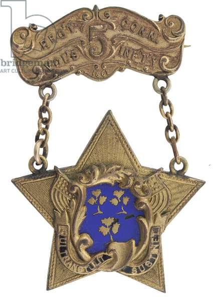 5th Connecticut Veteran's Badge