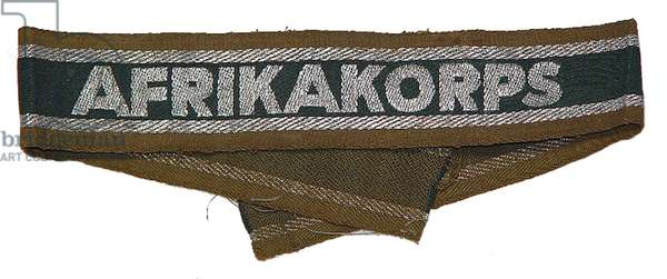 Nazi Germany, Africa Corps embroidered sleeve band