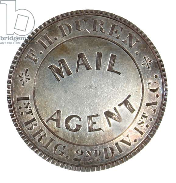 - Silver Army Mail Agent's badge