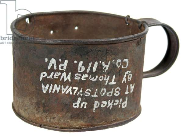Union Soldier's Tin Cup, 119th Pennsylvania Regiment