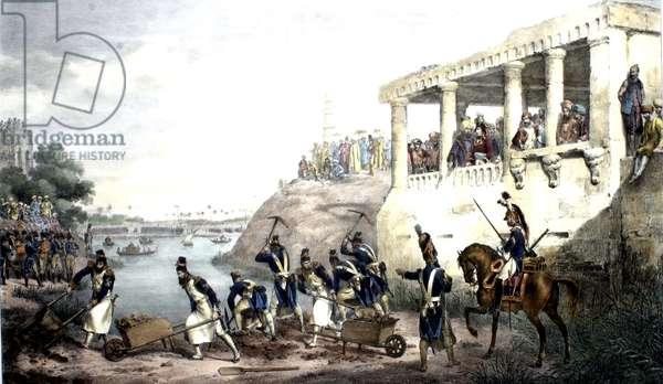 Napoleon supervising work in Egypt