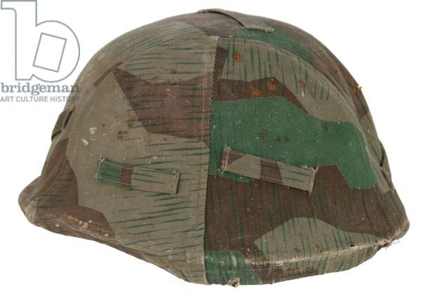 Nazi Germany, Helmet with Army Camouflage Cover