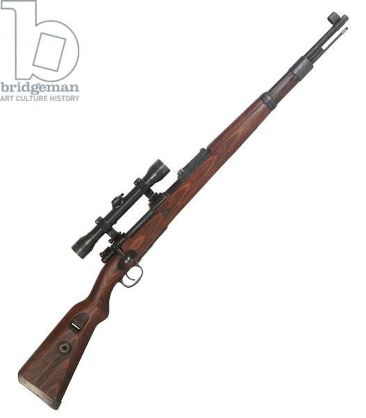 Nazi Germany, German Kar98k rifle with sniper scope